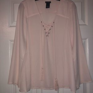 New Directions Pale Pink Top sz. S